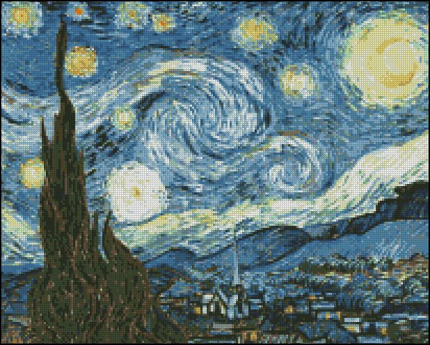 Vincent Van Gogh THE STARRY NIGHT cross stitch pattern