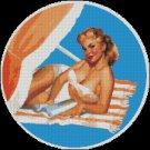Vintage, Pin Up VERSILIA BEACH cross stitch pattern
