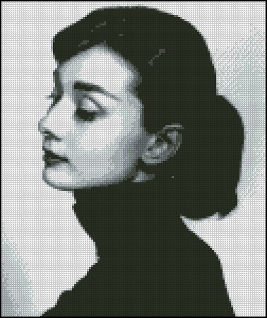 AUDREY HEPBURN 10 cross stitch pattern