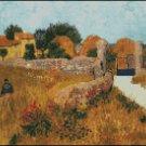 Vincent Van Gogh FARMHOUSE IN PROVINCE cross stitch pattern
