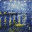 Vincent Van Gogh STARRY NIGHT OVER THE RHONE cross stitch pattern