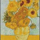 Vincent Van Gogh SUNFLOWERS cross stitch pattern