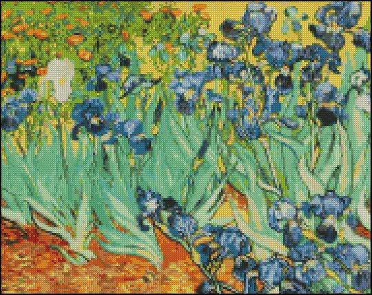Vincent Van Gogh IRISES cross stitch pattern