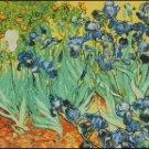 Vincent Van Gogh IRISES cross stitch pattern
