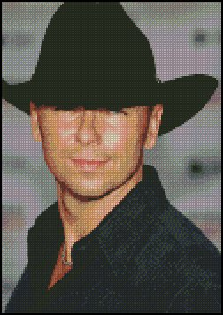 KENNEY CHESNEY cross stitch pattern