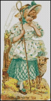 VINTAGE LITTLE BO-PEEP cross stitch pattern