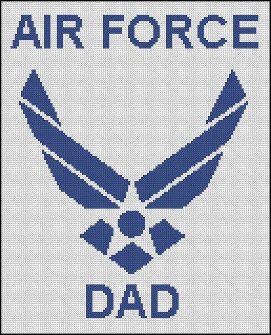 AIR FORCE DAD cross stitch pattern
