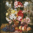 A VASE OF SUMMER FLOWERS cross stitch pattern