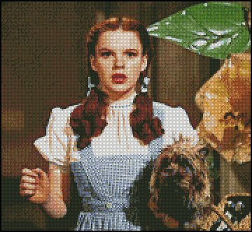 WIZARD OF OZ DOROTHY AND TOTO cross stitch pattern