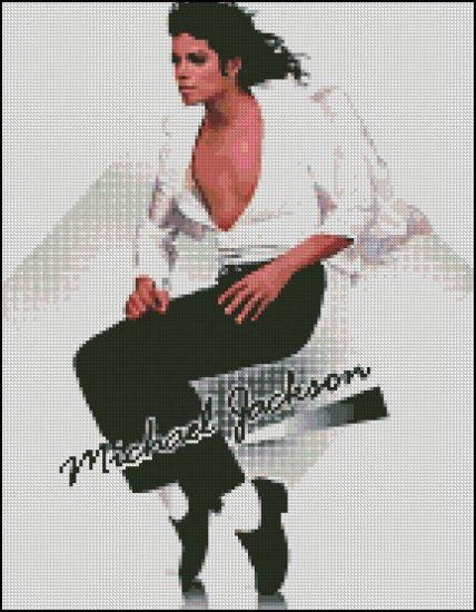 MICHAEL JACKSON 6 cross stitch pattern