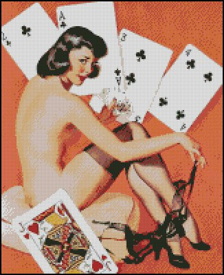 PIN UP WHAT A DEAL cross stitch pattern