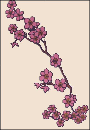 CHERRY BLOSSOM 2 cross stitch pattern
