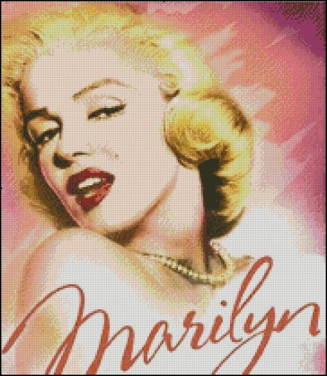 MARILYN MONROE 16 cross stitch pattern