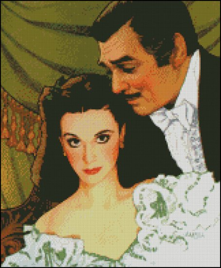 GONE WITH THE WIND cross stitch pattern