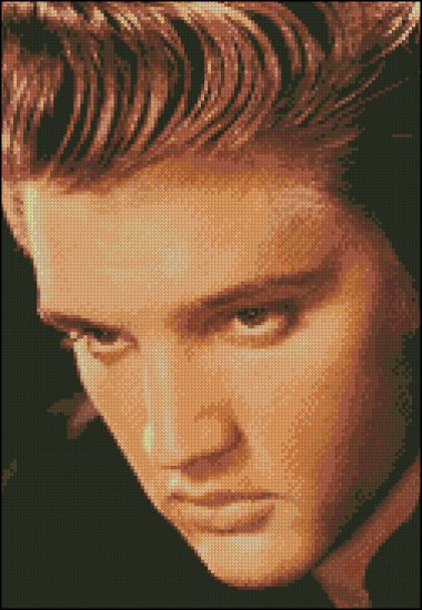 ELVIS PRESLEY 4 cross stitch pattern