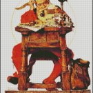 SANTA READING MAIL cross stitch pattern