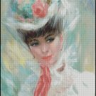 WOMAN PORTRAIT cross stitch pattern