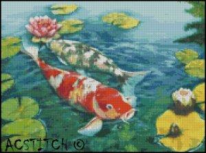 KOI FISH 3 cross stitch pattern