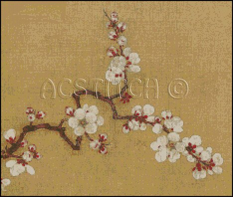 CHERRY BLOSSOM 4 cross stitch pattern