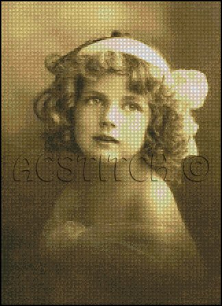 VINTAGE GIRL PHOTO cross stitch pattern