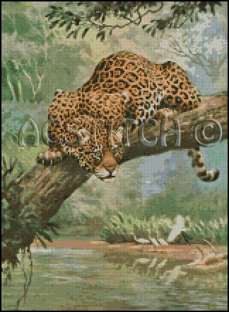 JAGUAR cross stitch pattern