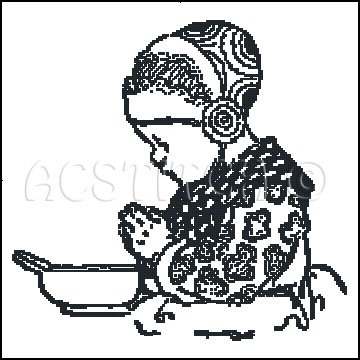 PRAYER HANS cross stitch pattern