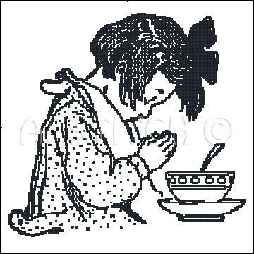 PRAYER MARY cross stitch pattern