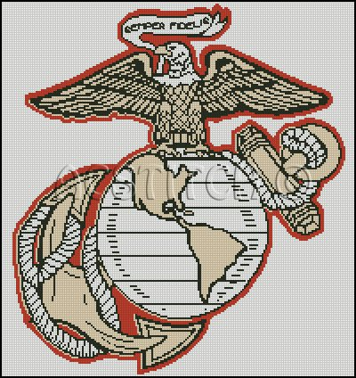 UNITED STATES MARINE CORP 2 cross stitch pattern