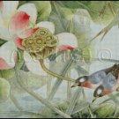 BIRDS AND FLOWERS cross stitch pattern