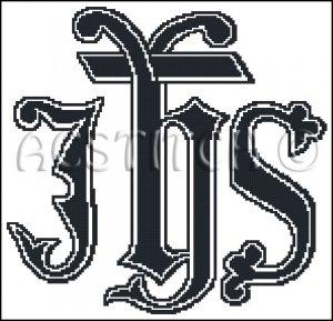 MONOGRAM IHS cross stitch pattern
