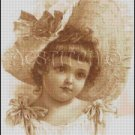 VINTAGE GIRL cross stitch pattern