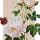 ROSES AND BUTTERFLIES cross stitch pattern