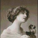 VINTAGE WOMAN PHOTO cross stich pattern, pdf chart