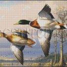 MALLARDS cross stitch pattern