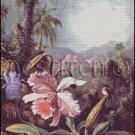 ORCHID AND HUMMINGBIRD cross stitch pattern