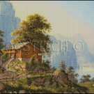 VIEW OF LAKE cross stitch pattern