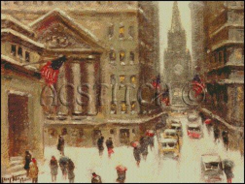 WINTER NEW YORK cross stitch pattern