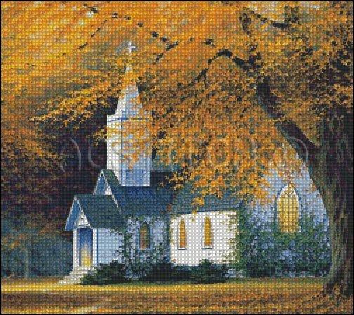 THE CHURCH cross stitch pattern