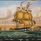 Packet Ship Passing Castle Williams cross stitch pattern