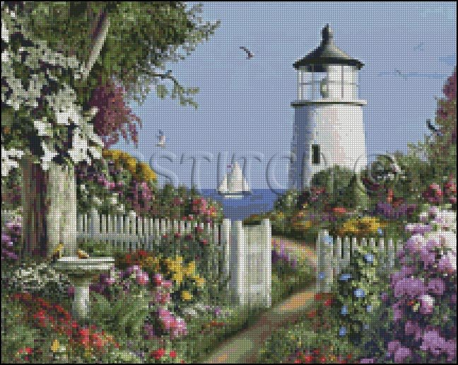 TO THE LIGHTHOUSE cross stitch pattern