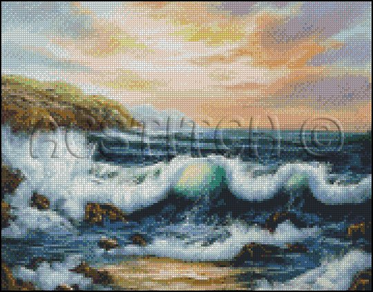 TO THE WEST cross stitch pattern