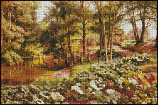 THE PATH ON THE RIVERS EDGE cross stitch pattern