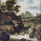 A WATERFALL cross stitch pattern