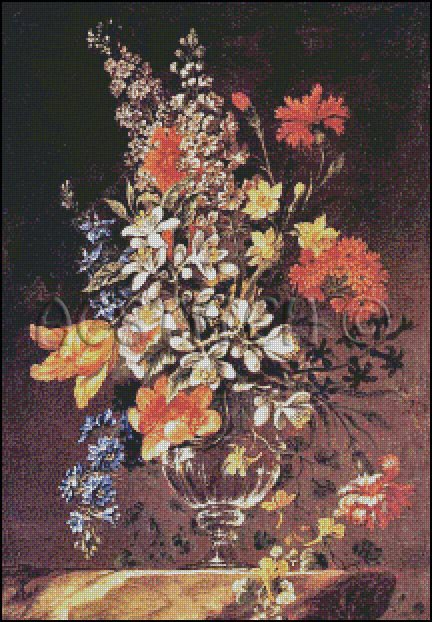 VASE OF FLOWERS cross stitch pattern
