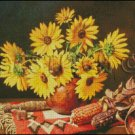 SUNFLOWERS cross stitch pattern
