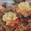 YELLOW ROSES cross stitch pattern