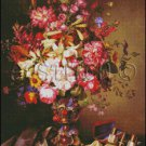 STILL LIFE WITH A VASE OF FLOWERS cross stitch pattern