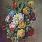 CLASSICAL FLOWERS cross stitch pattern