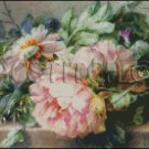 STILL LIFE WITH PEONIES cross stitch pattern