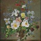 FLOWERS IN A VASE 4 cross stitch pattern